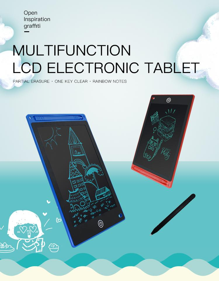 TIANDOU Electronic Writing/&Drawing Board LCD Portable Handwriting Notepad Painting Tablet with Stylus Pen Gift for Kids Adults at Home,School Office Partial Erasure