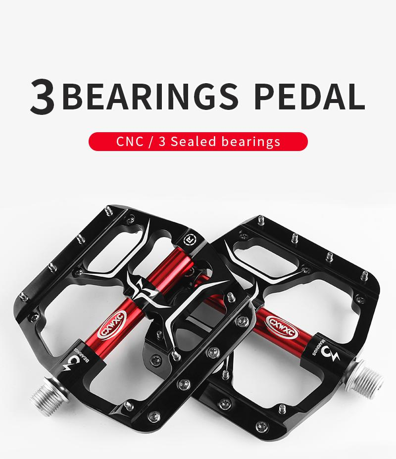 Flat Bike Pedals MTB Road 3 Sealed Bearings Bicycle Pedals Mountain Bike Pedals