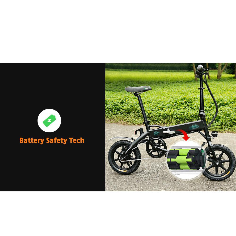 FIIDO D1 Folding Electric Bike Moped Bicycle E-bike - White 8AH with EU Charger Poland