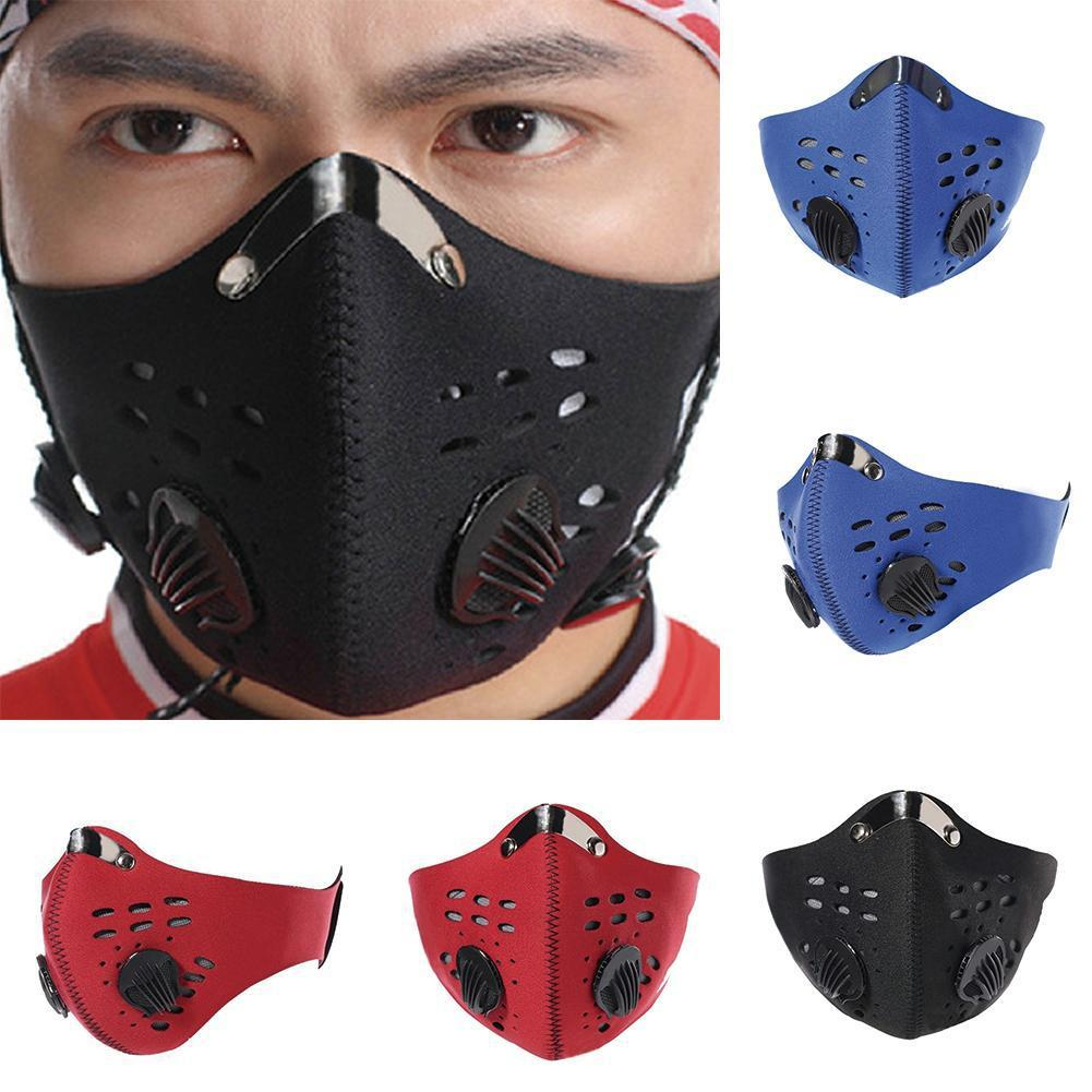 Activated Carbon Washable Cotton Dustproof Riding Mask with Filter for Outdoor