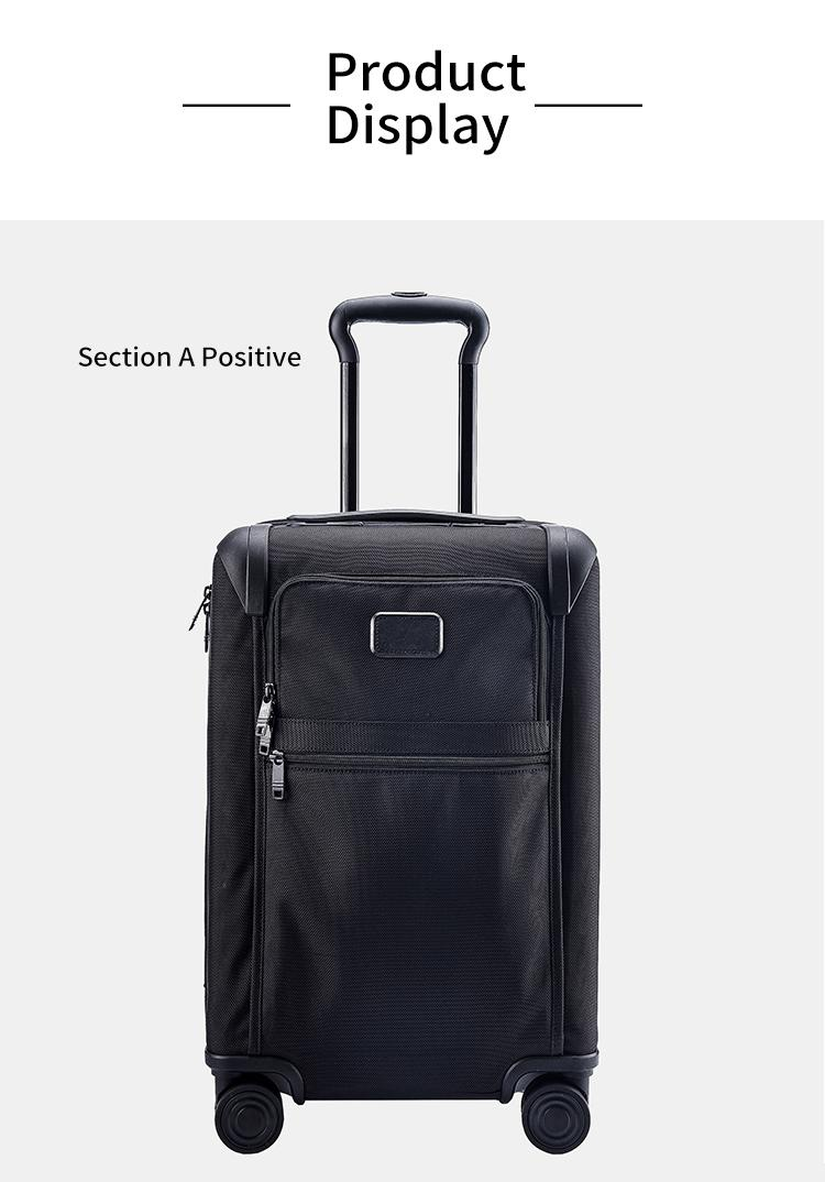 Color : Black, Size : L Trolley Universal Wheel Aluminum Frame 360 ​​Degree Mute Caster Luggage Student