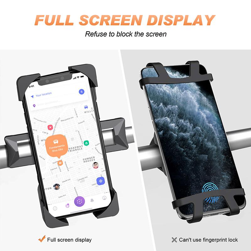 New 360/° Rotation Bicycle /& Motorcycle Cellphone Holder Handlebar Mount for/Any Smart Phone Include iPhone 11 Pro Xs Max XR X 7 8 Plus Galaxy S10 Note 10 Bike Phone Mount One Touch Release