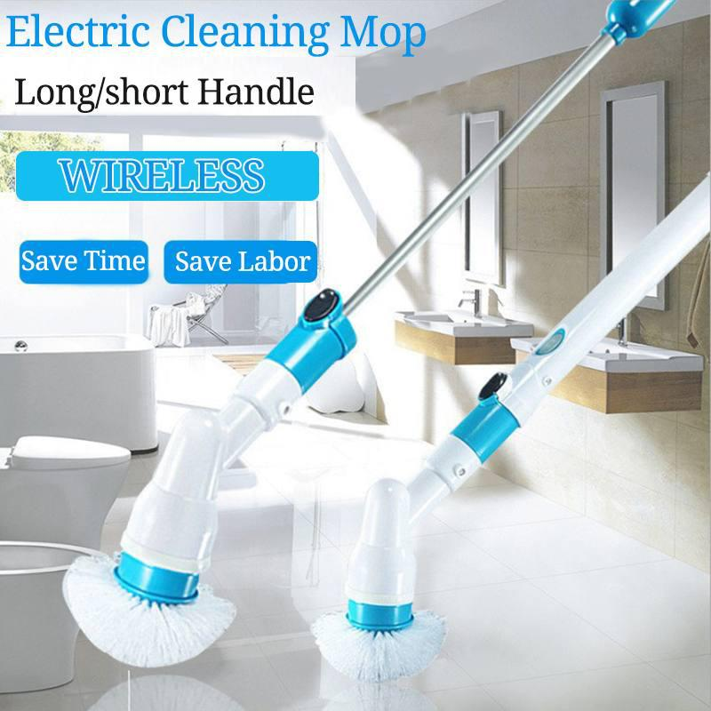 Electric Spin Scrubber Turbo Scrub Cleaning Brush Cordless Chargeable Bathroom Cleaner With Extension Handle Adaptive Brush Tub Sale Price Reviews Gearbest