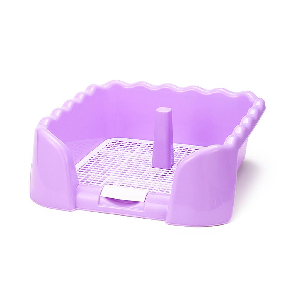 Color : Blue Flashing Portable Pet Toilet Tray Grid Pet Toilet Fence Dog Toilet Puppy Training Pad Holder With Fence Pee Post for Small Pet Potty