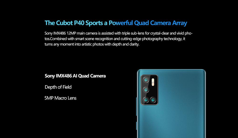 Cubot P40 Rear Quad Camera 20mp Selfie Smartphone Nfc 4gb 128gb 6 2 Inch 4200mah Android 10 Dual Sim Card Mobile Phone 4g Lte Sale Price Reviews Gearbest