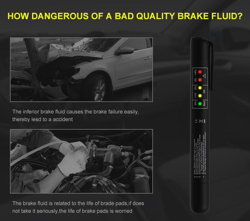 Universal Car Accessories Brake Fluid Tester Diagnostic Tools Accurate Oil Quality 5 Leds Auto Vehicle Brake Fluid Testing Tool Sale Price Reviews Gearbest