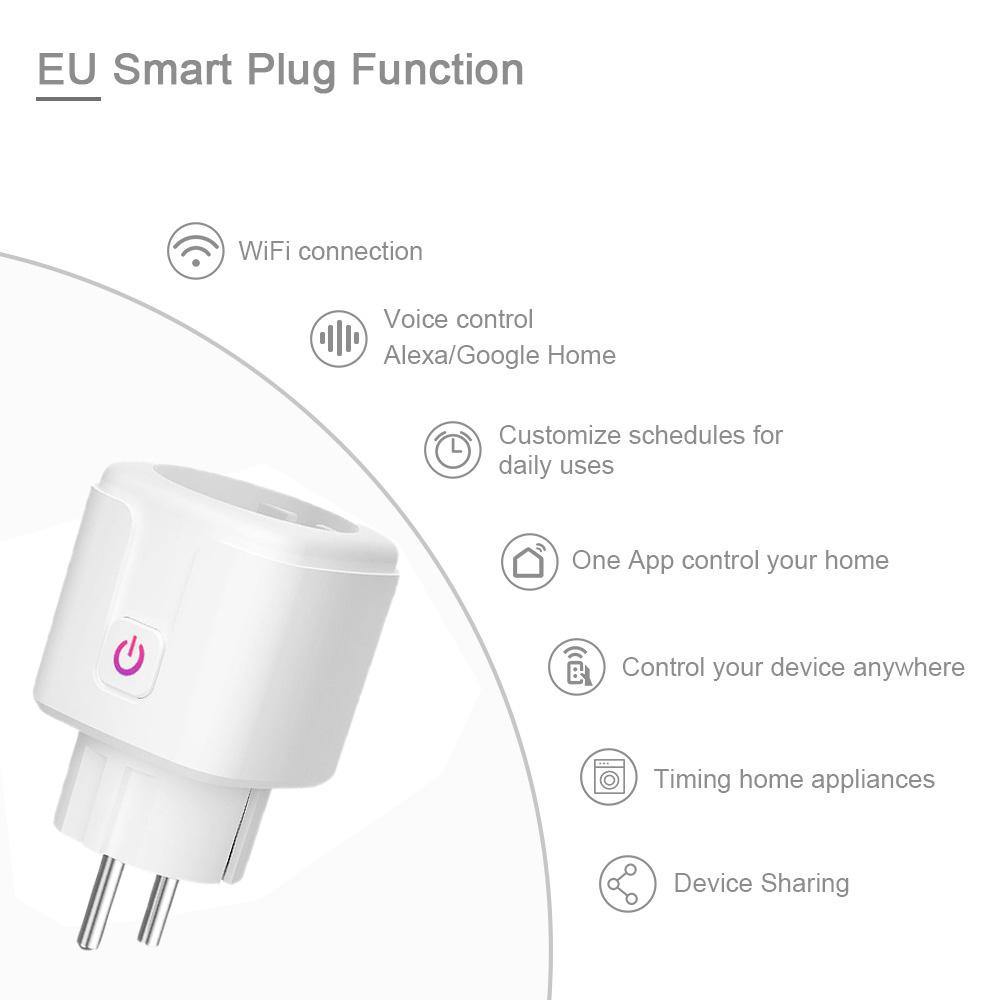 Wifi Smart Plug Eu Us Uk Adaptor Wireless Remote Voice Control Power Energy Monitor Outlet Timer Socket For Alexa Google Home Sale Price Reviews Gearbest