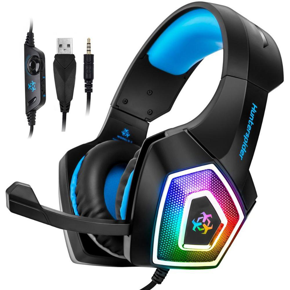 Gaming Headset Xbox One Headset Ps4 Headset With 7 1 Surround Sound Noise Cancelling Mic And Led Light Compatible With Xbox One Ps4 Pc Laptop Sale Price Reviews Gearbest