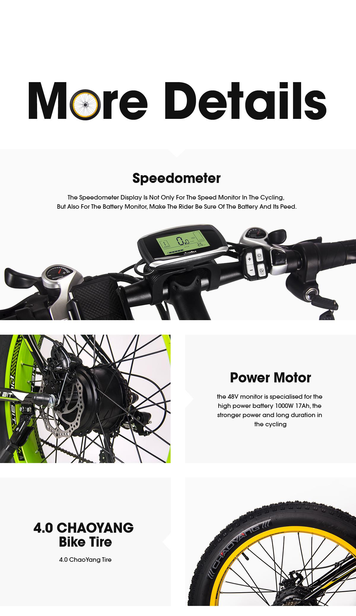 838adcbadce8 - Coupon code for RICH BIT RT-022 Ebike 48V 17Ah Li-battery 4.0 In Fat Tire Bicycle Snow Electric Bike Mountain Accelerator Throttl - White Blue Poland