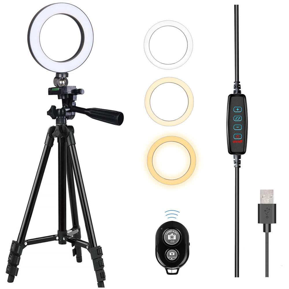 Max Extension 190cm Light Weight Portable Light Standing Tripod 1//4 Screw for Ring led lamp Studio LED Continue Lighting