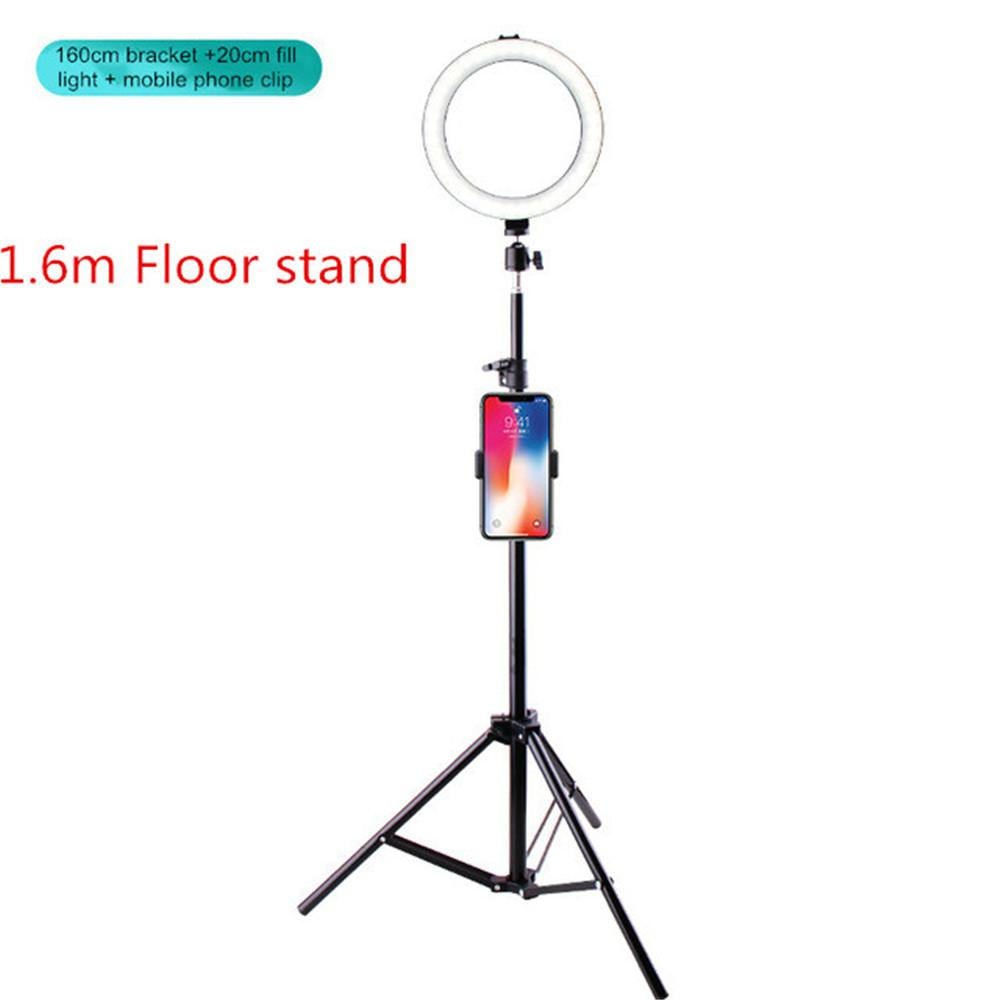 Live Fill Light Beauty Face-Lift Anchor Large Aperture Floor Stand Beauty Photo Shoot 7.8-Inch LED Ring Light
