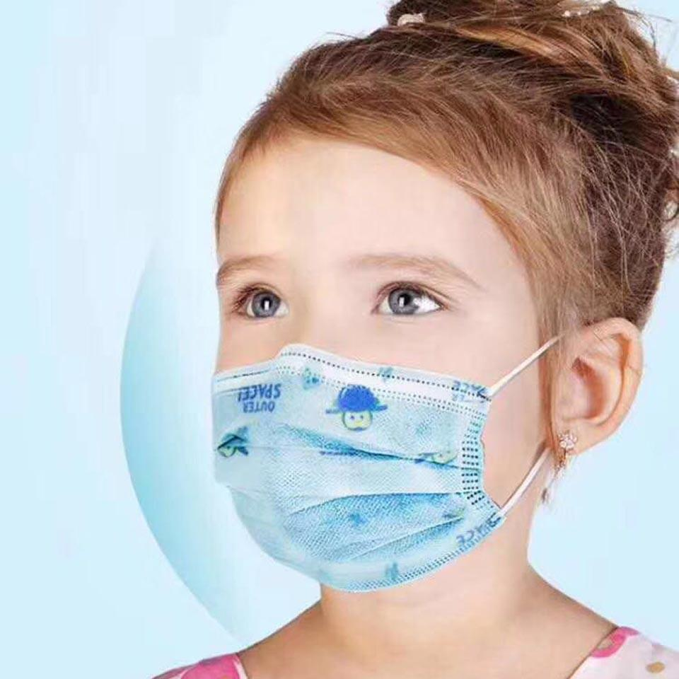 Kids Mouth mask 3 layer Disposable Elastic Mouth Soft Breathable ...
