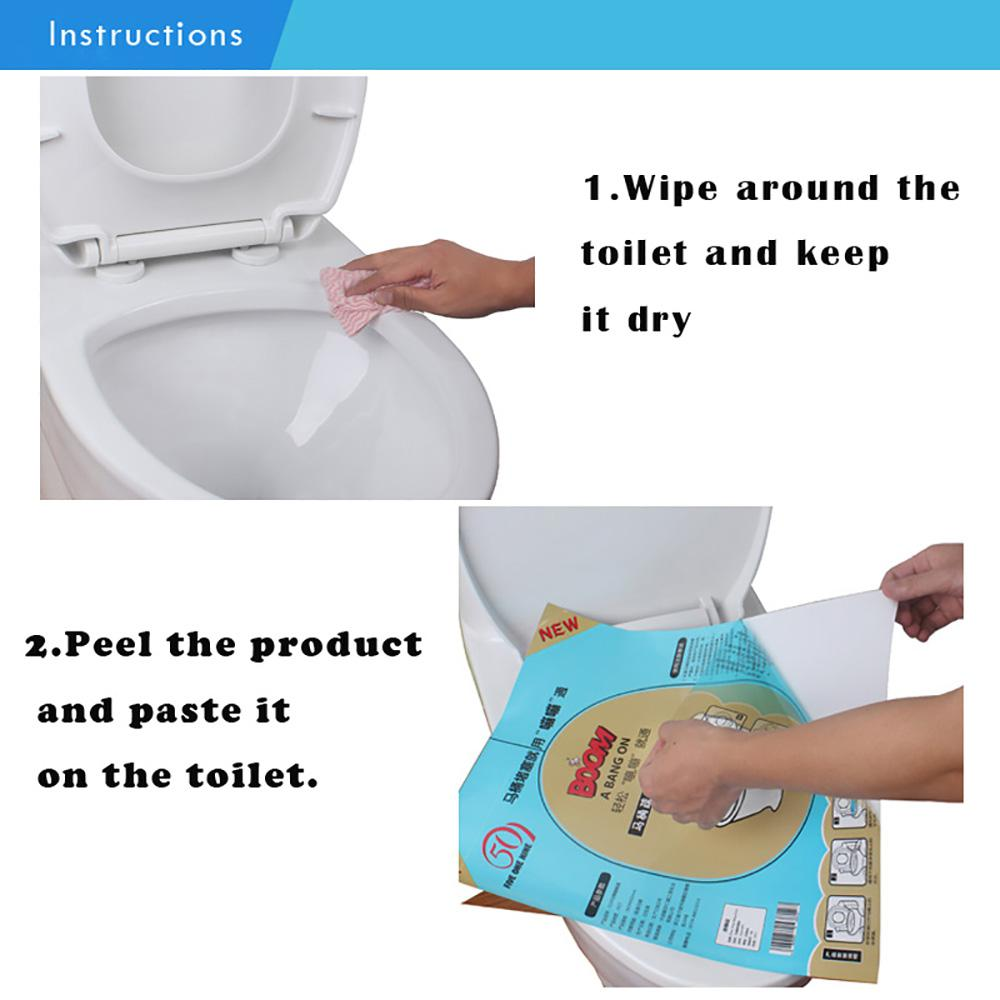 Dynamovolition Disposable Plastic Toilet Clog Sticker Hygienic Powerful Plunger Dredge Easy Fix Universal Toilet Clogged Film