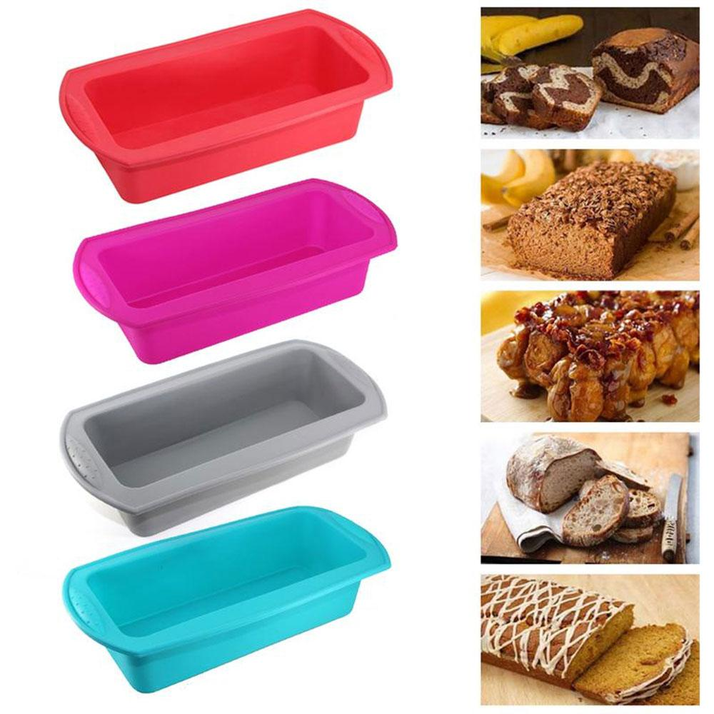 Professional Toast Bread Baking Pan Silicone Bakeware Loaf Cake Mold Home-Mould