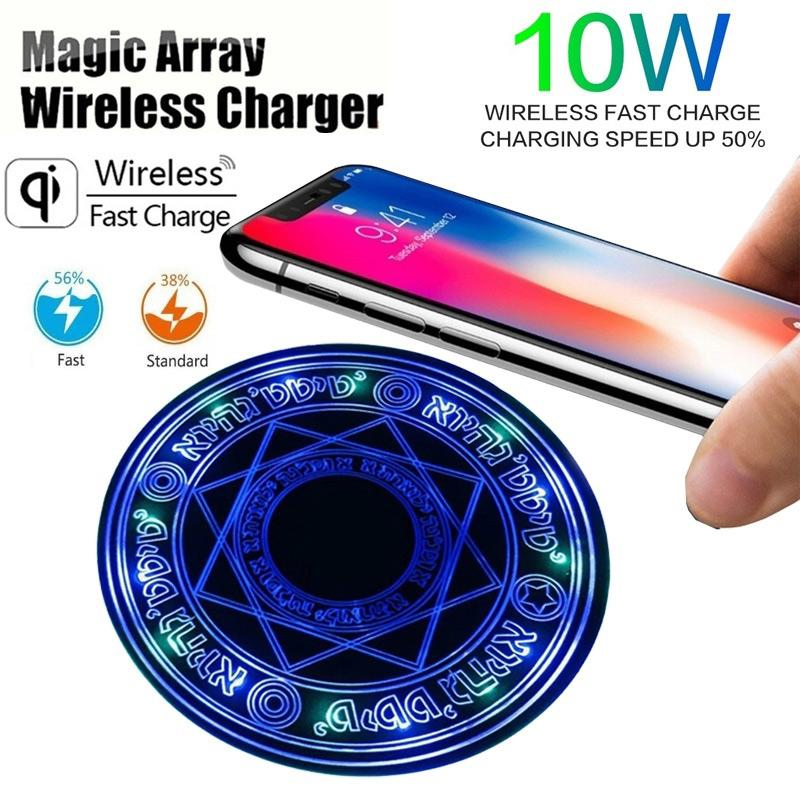 LEEHUR 10W Wireless Charger Magic Circle for Iphone Samsung Xiaomi Mobile Phone Charger Pad Dock