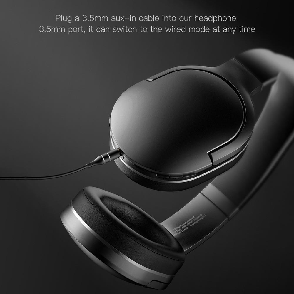 Bluetooth Headphones - Baseus D02 Wireless Headphones Hands-free Headset For iPhone Xiaomi Huawei Phone