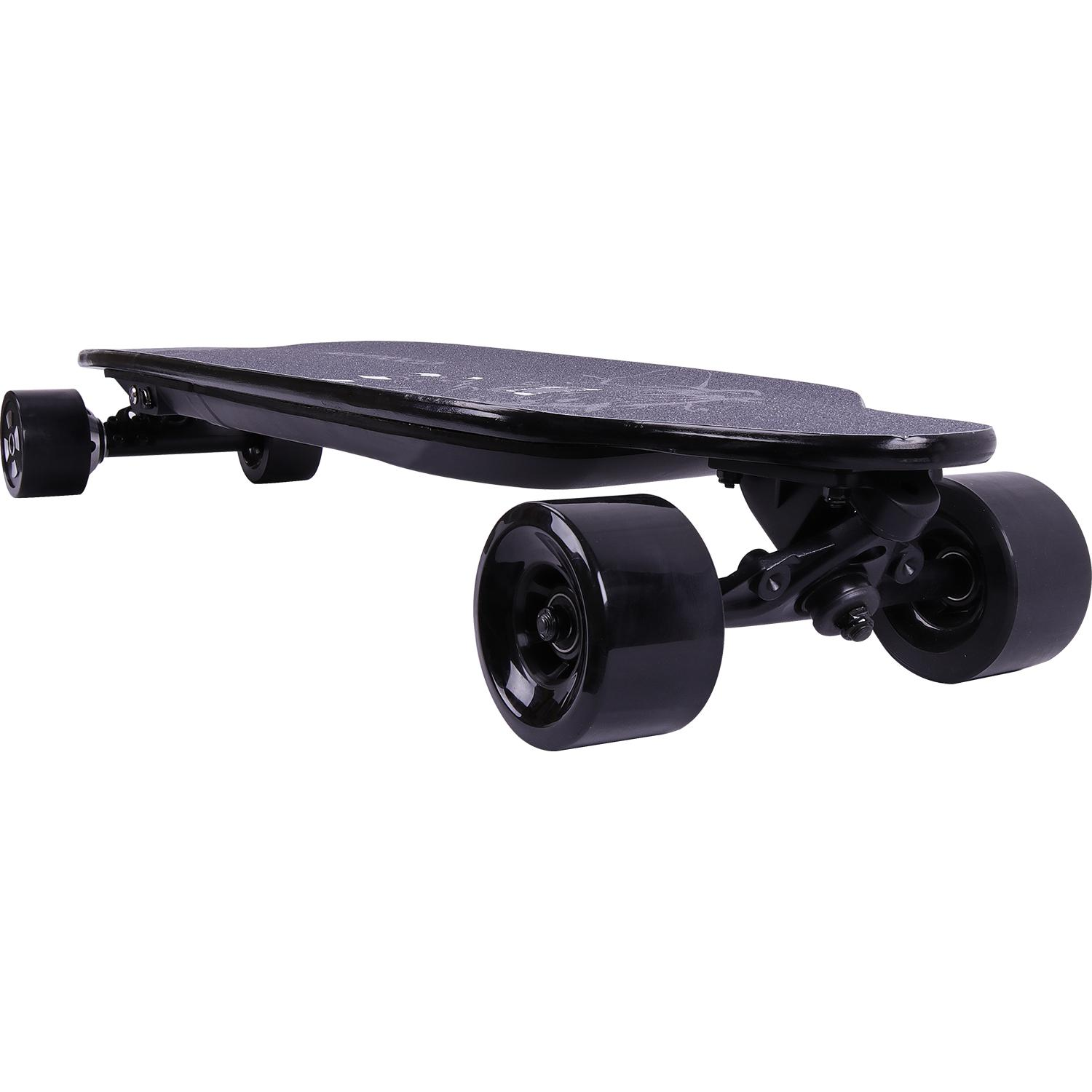 Remote Control Skateboard >> Electric Skateboard 4 Wheels Longboard Remote Control Electric Scooter Adjustable 2 Speed Mode