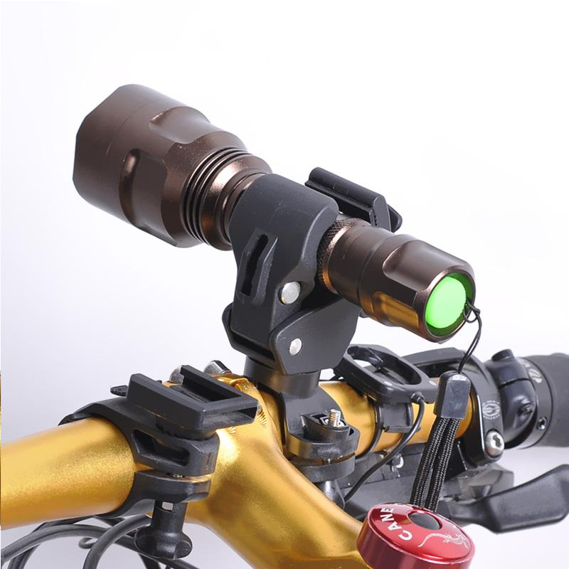 Details about  /Bike Light Holder Universal Bicycle Flashlight Mount Cycling Torch Bracket Clip