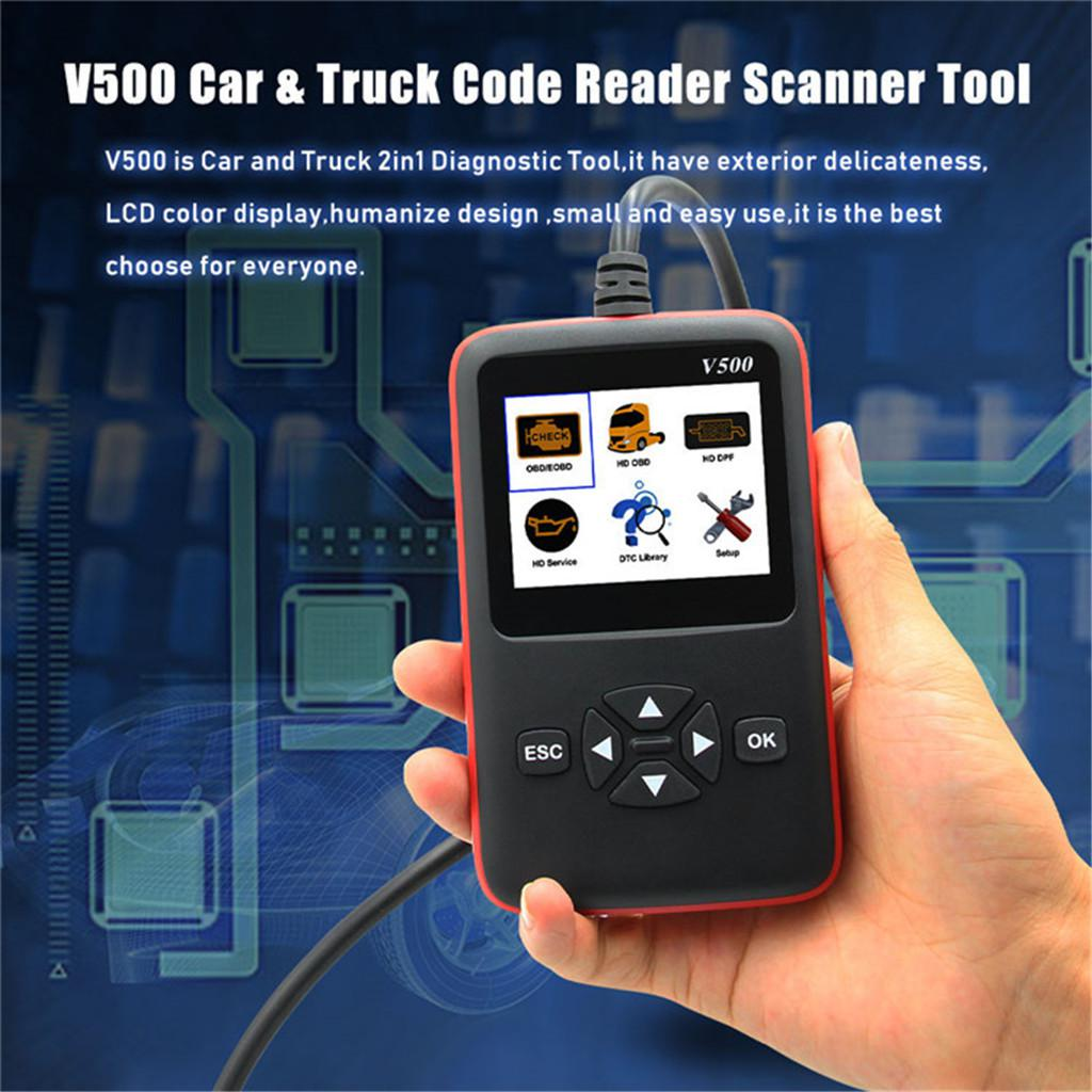 Heavy Duty Truck Scan Tool OBD2 Vehicle Scanner DPF Oil Reset Code Reader  BYD Karry Great Wall Geely