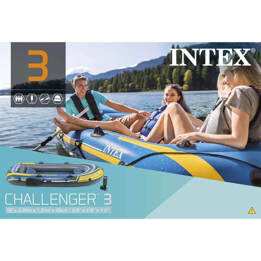 Quality  Challenger 3 Set Inflatable Boat with Oars and Pump 68370NP