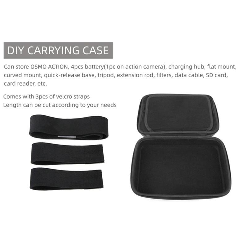 Storage Bag Portable DIY Carrying Case for DJI OSMO Action OSMO Pocket  GOPRO Camera