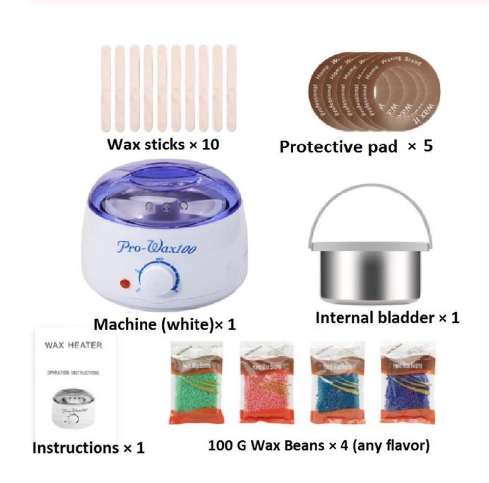 Wax Warmer Hair Removal Home Waxing Kit Electric Wax Heater Plus 4 X 100 G Wax Beans Sale Price Reviews Gearbest