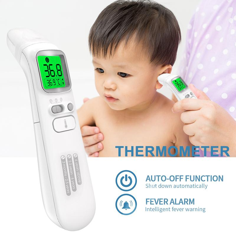 Medical Infrared Thermometer Fever Alarm Digital Thermometer for Baby Thermometers Kids and Adult US Stock 3-Color LCD Display