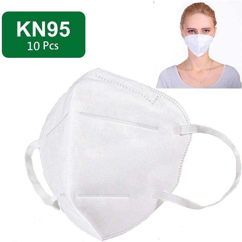 KN95 Mask N95 Respirator Virus Protection with Melt-blown Filter Safety  Masks 10pcs