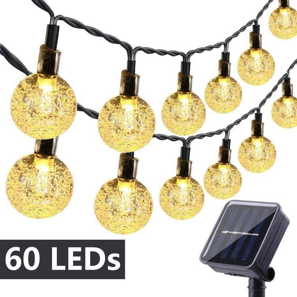 Solar String Lights 35 6ft 60 Led Outdoor Bulb String Lights Waterproof 8 Modes Solar Patio Lights For Patio Garden Gazebo Yard Sale Price Reviews Gearbest