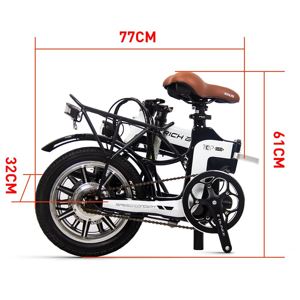 6c4f299b9e1e - Coupon code for Rich Bit Ebike RT-619 14 Inch Folding Electric Bike 250W 36V 10.2AH Li-ion Battery 5 Level Pedal Assist With Rear luggage rack - Green Poland 1pc