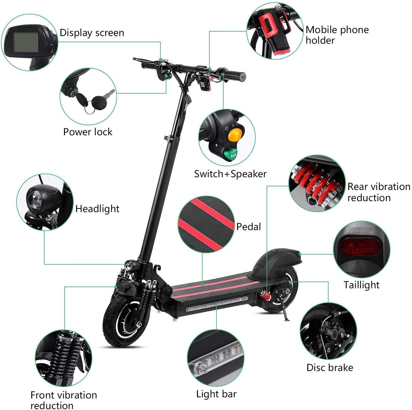 d3a254b94315 - Coupon code for Powerful Lamtwheel 10 Inch Folding Electric Kick Scooters for Adults Single Motor 600W 48V 12Ah - Black Germany 1 piece (promotion for new shop)