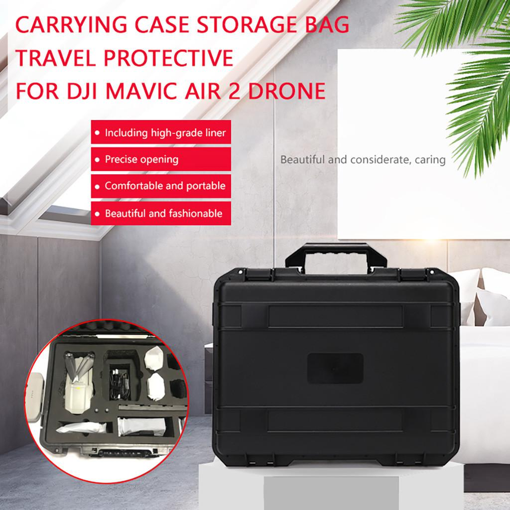 Travel Storage Case Bag for DJI Mavic Air 2 Drone MOSTOP Mavic Air 2 Drone Hard Carrying Case Portable Anti-Shock EVA Hardshell Carrying Bag Accessory for Mavic Air 2 Remote Controller Bag