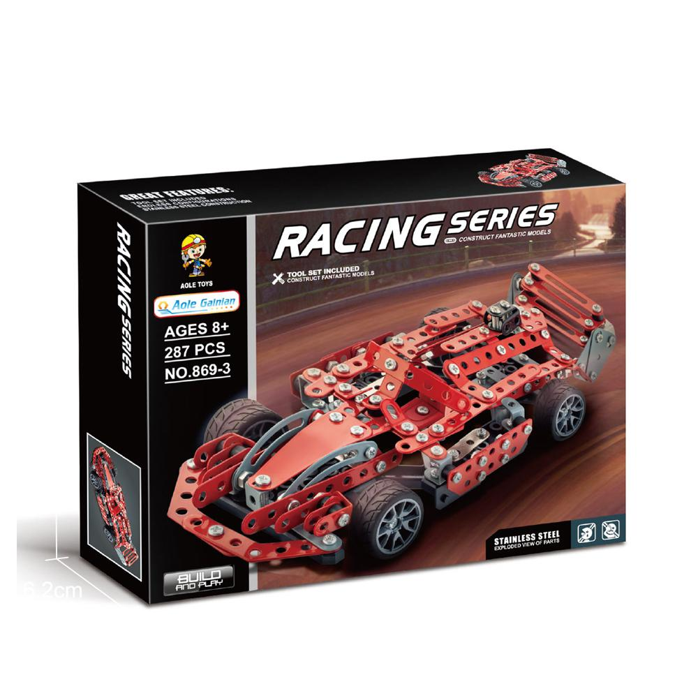 WITHOUT MOTOR,1908PCS Toy Blocks AUDI R18 Equation Car Assembly building block
