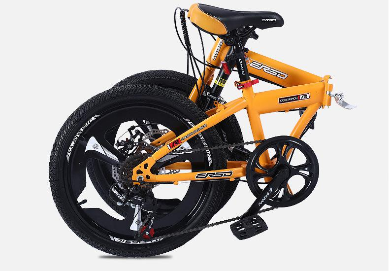 16//20 inch Double Disc Variable Speed Folding Mountain Bike Portable MTB DHL
