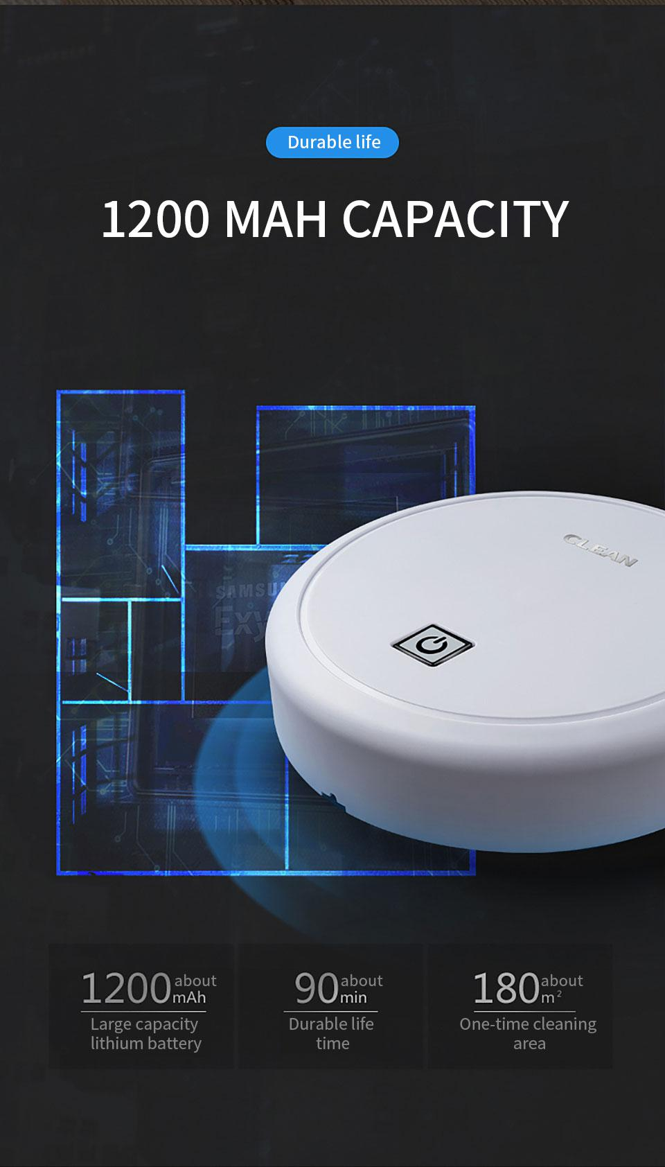 ES23 Automatic USB Charging Wireless Sweeping Robot Vacuum