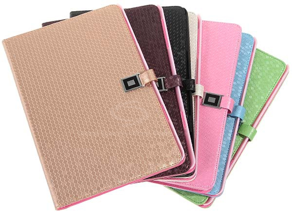 Diamond Texture Leather Case Smart Cover with Stand for iPad Mini