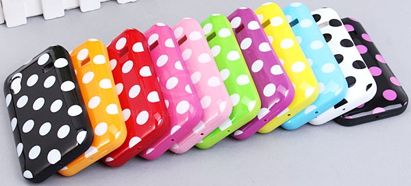 Unique Dots Pattern Glossy Protective TPU Cover Case for Samsung Galaxy Ace S5830