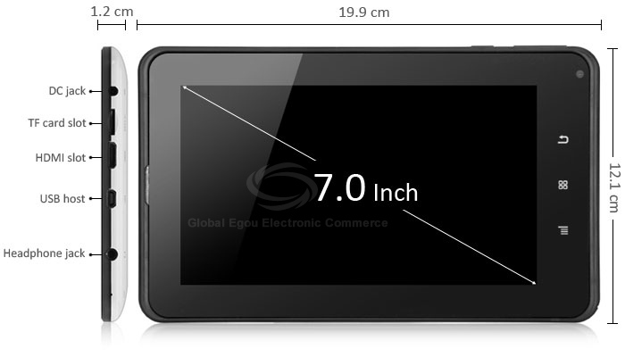 M740D2 3G Phablet with 7 inch Android 4.0 All Winner A10 1GHz 1GB RAM 8GB ROM