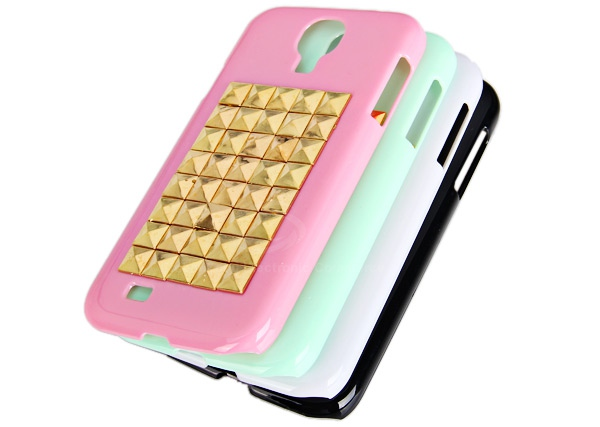 Cool Rivets Studs Hard Plastic Case Cover for Samsung Galaxy S4 i9500 / i9505