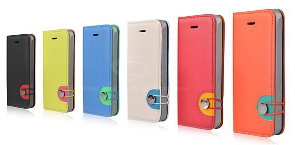 Baseus Fashion Rainbow PU Leather and TPU Metal Buckle Case for iPhone 5