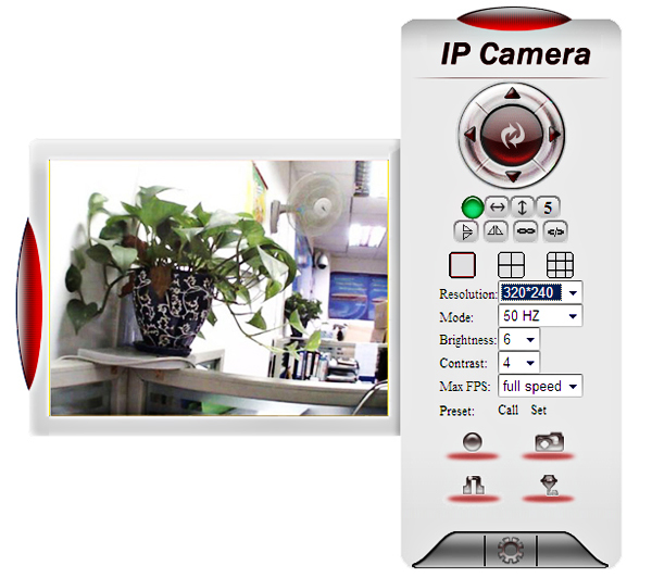 EasyN F-M10R CMOS 30,000 Pixel 3.6mm Wireless IP Camera Cam with Night Version Function - White