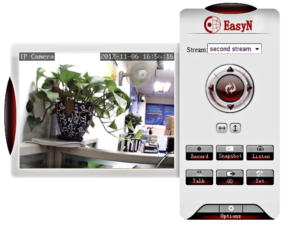EasyN H3-105V CMOS 1000,000 Pixel 6mm Wireless IP Camera Cam with Night Version Function - Silver