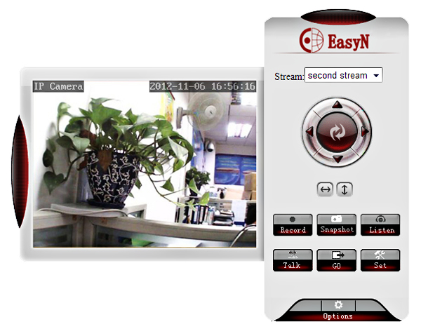EasyN H3-137V CMOS 1000,000 Pixel 3.6mm Wireless IP Camera Cam with Night Version Function - White