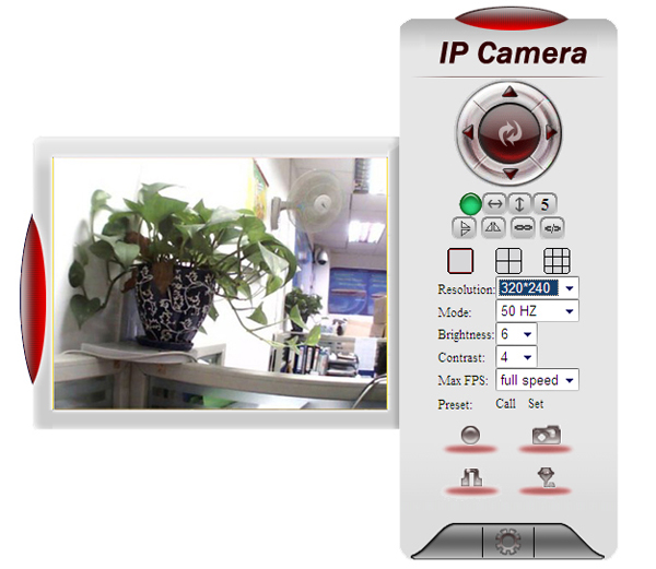 EasyN H3-187V CMOS 1000,000 Pixel 3.6mm Wireless IP Camera Cam with Night Version Function - White