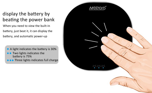 Metrans 10400mAh Double USB Outputs Power Charger Battery Bank for iPhone 5 / 5s iPad Samsung S4 i9500 i9505 LG MOTO Nokia Sony HTC etc.