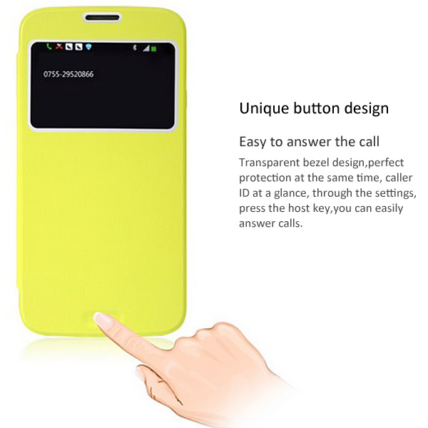 Baseus Cool Slim Call ID View and Answer Phone PU Leather Cover Case for Samsung Galaxy Mega 5.8 i9150