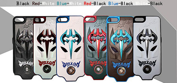 2300mAh Cool Batman Backup Power Supply Case Battery Booster for iPhone 5 - White with Blue