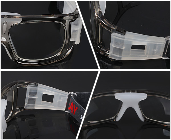 f016ca91649 Durable Anti-shock Basketball Glasses Sports Safety Goggles Soccer Football  Eyewear - Gray- Gray