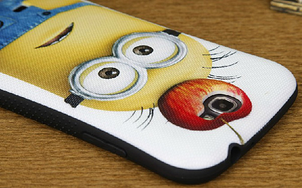 Durable PC and Silicone Back Shell Case with Despicable Me and Horn Pattern for Samsung Galaxy Note 2 N7100