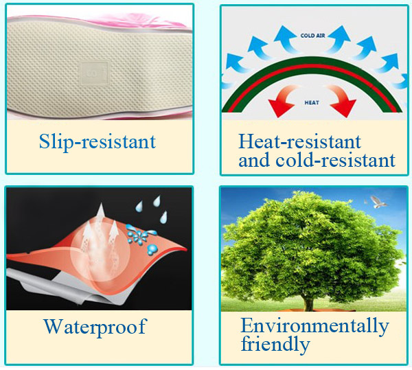Large Size PVC Reusable Waterproof Slip-resistant Thickening Rain Boot Shoes Cover with Side Zipper Design